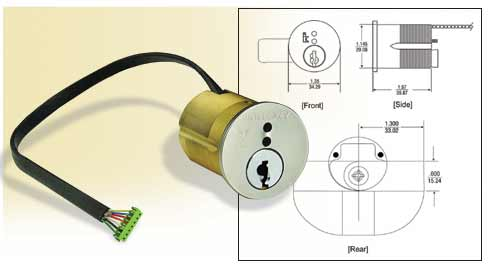 Electronic Cylinders For Mortise And Rim Cylinder Locksets