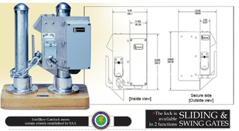 Electronic Gate Lock Access Control For Sliding And